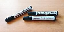 SET OF 3 BLACK PENS - FURNITURE REPAIR PENS MARKERS TOUCH UP SCRATCH REMOVE