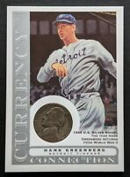 2003 Topps Gallery Hank Greenberg Currency 1945 Silver Nickel CC-HG HoF Tigers