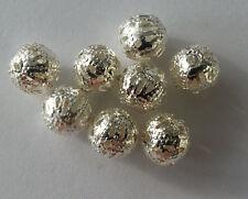 Modeschmuck 30 Metallperle Legierung Perle 6mm Farbe silber Kettenperle A1 Kugel