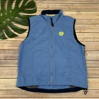 Cannondale Womens Cycling Vest Size M Light Blue Sleeveless Windbreaker Zip Up