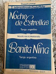 Noten Salonorchester Noche de Estrellas/ Bonita Nina Tango argentino v. Malando