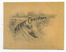 Rare 1900 Celluloid Merry Christmas to You Card