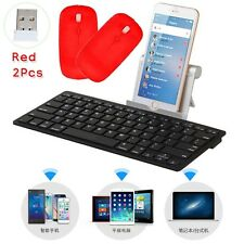 Black Wireless Keyboard Bluetooth Keypads For Android Windows Mac Ios+2 MOUSE RE