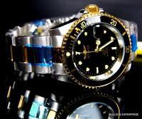 Invicta Pro Diver Steel Silver Gold 2 Tone Black Coin NH35A Automatic Watch New