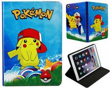 For Apple iPad Mini 1 2 3 Happy Pokemon Pikachu Anime Pokeball  Case Cover