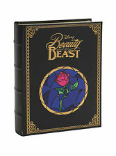 DISNEY BEAUTY AND THE BEAST NOTE CARD STATIONARY SET IN ENCHANTED ROSE BOOK BOX