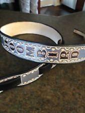 "Personalized 2"" Custom Leather Banjo Strap"