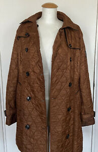 BURBERRY BRIT BROWN QUILTED JACKET SIZE XXL