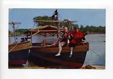Wakefield MA Mass Pleasure Island Pirate Ride, costumes, Jolly Roger, 1950's?