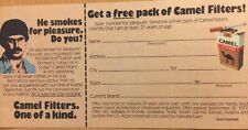 1976 Camel Filters Mail In Rebate For A Free Pack Of Cigarettes, RJ Reynolds