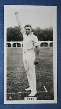 Sussex & England  Cricketer  Tate   Original 1920's Vintage Photo Card
