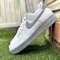 Mens Nike Air Force 1 Low '07 White Wolf Grey Sole Sneakers CK7663-104