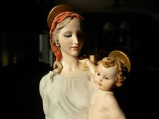 Giuseppe  Armani  Figurine  Vintage Madonna and christ child  made in italy