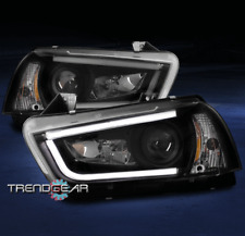 2011-2014 DODGE CHARGER DRL LED BAR PROJECTOR HEADLIGHT LAMP BLACK 2012 2013 SET