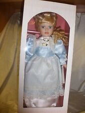 """New Chatelaine 17"""" bisque Porcelain Doll w/ Metal Stand,Fine collectible Doll"""
