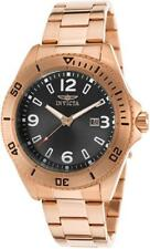 Invicta 16332 Pro Diver Date Charcoal Dial Rose tone Stainless Steel Mens Watch