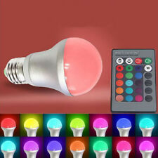 10W E27 RGB Color Changing Party LED Globe Light Bulb + IR Remote Controller FN