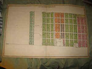 ANTIQUE 1924 KENOSHA CITY KENOSHA COUNTY WISCONSIN MAP PLATE 4 BAIN SCHOOL NR