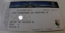 Ticket for collectors CL Legia Warszawa Sporting Lisboa 2016 Poland Portugal