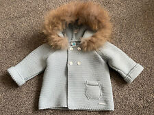 Pangasa Powder Blue Natural Fur Age 6 Months Mother Of Pearl Buttons