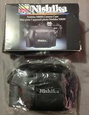 Nishika N8000 Leather Camera Case Genuine NOS with Box Vintage