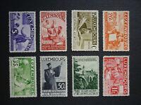 Luxemburg Luxembourg Intellektuellen 1935 Mi 266-273 **, PRACHT!!