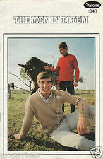 The Men in Totem  Patons  Knitting Pattern Book No. 840 Jumper Cardigan