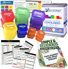 New listing 21 Day Labeled Efficient Nutrition Portion Control Containers Kit (14-Piece) + C