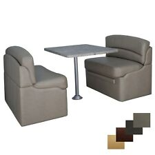 """RV 40"""" Putty Dinette Booth Set Luna Imperial Dining Table Furniture Seating"""
