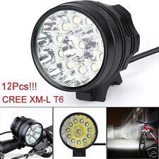 30000LM 11x CREE XM-L T6 LED 6x 18650 Stirnlampen Fahrrad Cycling lampe HOT