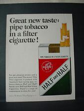 1964 Half and Half Pipe Tobacco in a Filter Cigarette Vintage Print Ad 11440