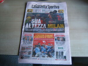 LA GAZZETTA SPORTIVA=N.41 17/10/2021=MILAN-VERONA 3-2=LAZIO-INTER 3-1=JUVE-ROMA