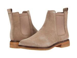 Women's Shoes Clarks CLARKDALE ARLO Slip On Chelsea Fall Boots 51331 PEBBLE