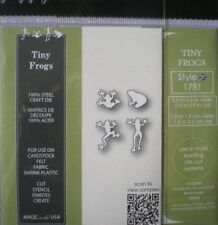 Poppystamps/Memory Box TINY  FROGS ~ 4 Dies ~  NEW ~ FREE 1st Class P&P
