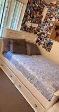 White Full bed frame and vanity Becks Furniture