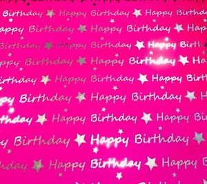 Luxury Wrapping Paper, Happy Birthday , Soft Touch Coated,High Sheen Silver Foil