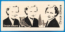 Trio of Smiles Rubber Stamp - Collage with Woman & French Language - Stampington