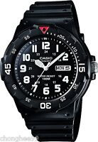 CASIO Mens MRW200H-1BV Black Resin Band Dive Watch Sport Analog Rotatable Bezel