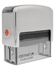 GENIE S884 Stempel Set selbersetzen selbst setzen Firmenstempel Stempelkissen