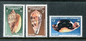 New Caledonia 463-465, MNH. Marine Life, Cowry Shells 1981 x18880