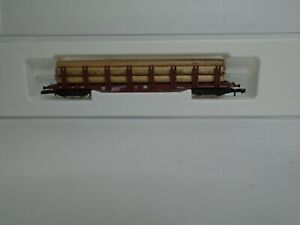 MARKLIN 8655 Z GAUGE HEAVY GOODS TRANSPORTER WAGON MINT CONDITION WITH LOAD