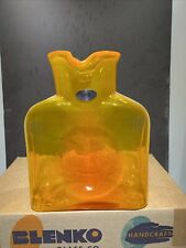New ListingBlenko Glass ~*~384~*~ Week 2021 Pawpaw Left Handed Pitcher Very Uncommon