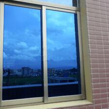 "20""x120"" One Way Mirror Window Film Dark BLue Window Tint Privacy Heat Control"