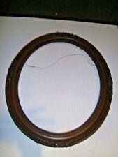 Vintage Oval Carved Wooden Picture Frame