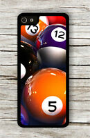 BILLIARD GAME BALLS ON POOL TABLE CASE FOR iPHONE 4 , 5 , 5c , 6 -gys2Z