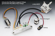 NEW Schaller FlagShip Guitar Preamp w/ 5-Way Toggle Switch for Piezo Bridges