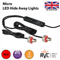12v, 24v Flashing LED HIDE AWAY LIGHTS, Micro Blast, Small Strobe, Covert, RED