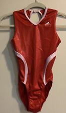 Adidas GK Elite Gymnastics Leotard Adult M Glittery Red And Pink EUC