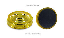 Two Hole Gold Weighted Base For Desk Set Table Stick Flags Single Base