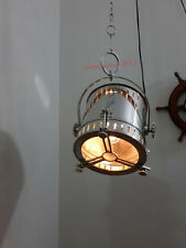 Vintage Pendant / Hanging Light Fixture Industrial Spotlight Art Deco